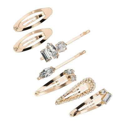 Kitsch - Micro Stackable Snap Hair Clips 7pc Set in Gold