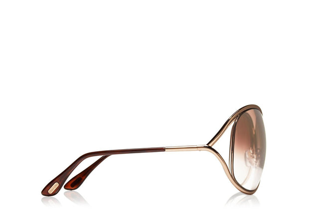Tom Ford - Miranda Shiny Rose Gold/Brown Mirror