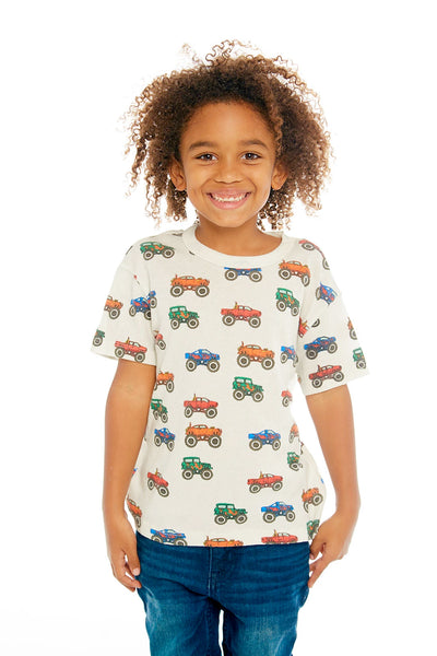 "CHASER KIDS - Boys Gauzy Cotton Tee ""Monster Truck Jam"""