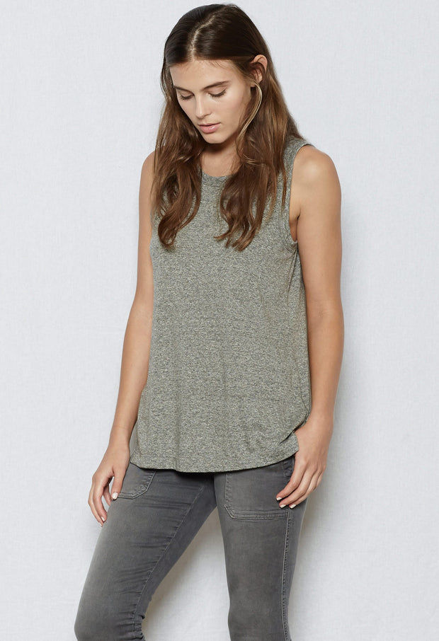 Current/Elliott CEL - The Muscle Tee 2301-0181 Heather Grey at Blond Genius - 1