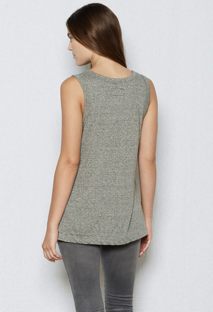 Current/Elliott CEL - The Muscle Tee 2301-0181 Heather Grey at Blond Genius - 3
