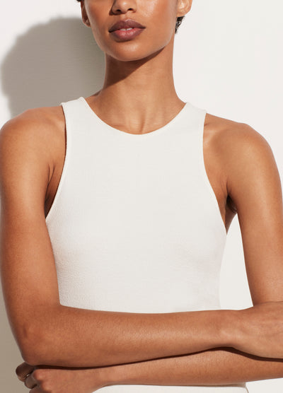 Vince - High Neck Tank in Natural