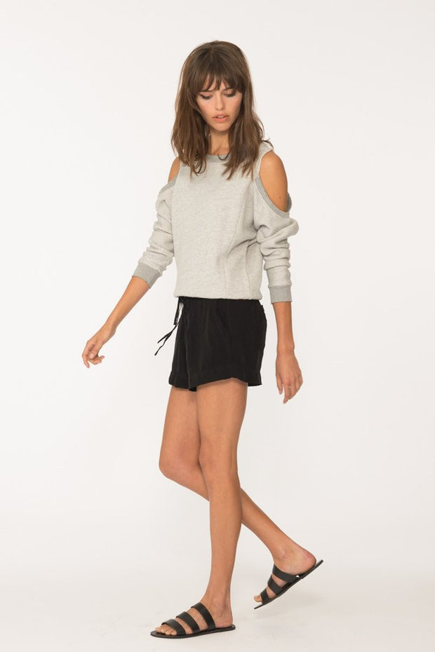 n:Philanthropy - Maia Open Shoulder Sweater Heather Grey