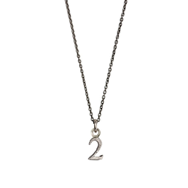 Pyrrha - Number 2 Charm in Silver