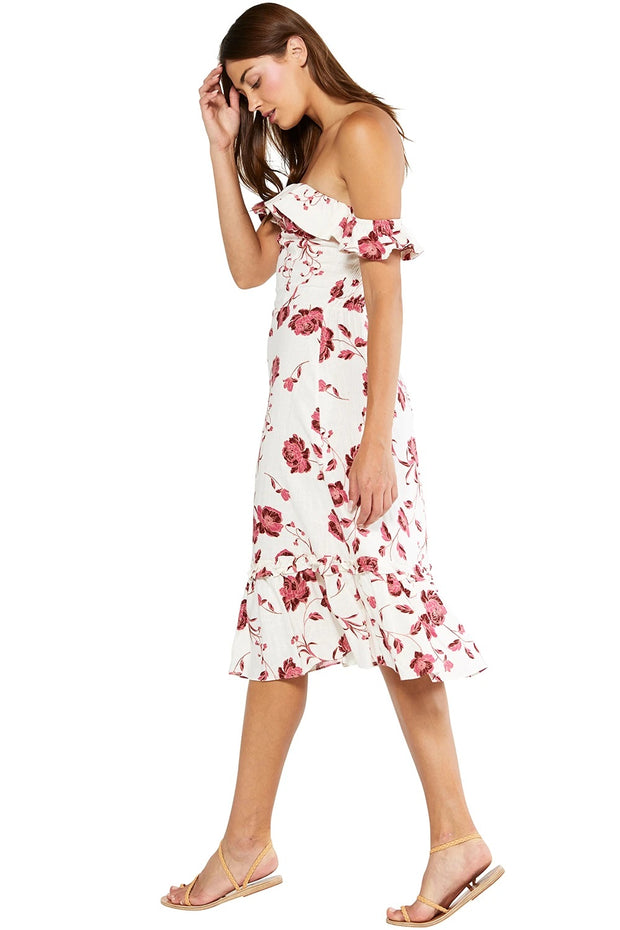 Misa - Oona Dress in Abstract Peony
