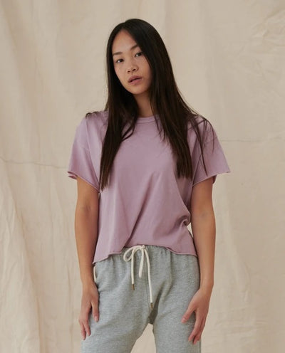 The Great - The Crop Tee in Orchid