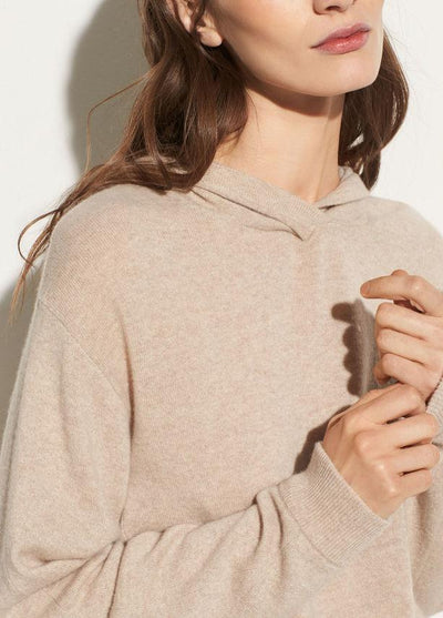 Vince - Overlap Hoodie Light Heather Marzipan