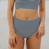 Albion - Pana Stripe High-Waisted Bottoms