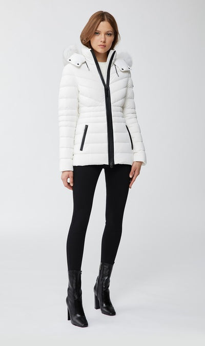 Mackage - Patsy Lightweight Down Jacket in Off White