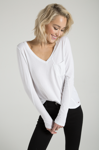 Philanthropy - Cypress Long Sleeve Tee White