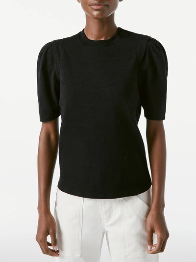 Frame - Pleated Panel Tee in Noir
