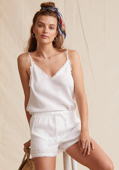 Bella Dahl - Fray Hem Pocket Short in White