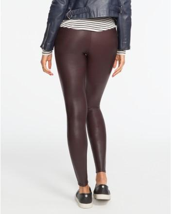 Spanx Spanx- Faux Leather Leggings Wine at Blond Genius - 2