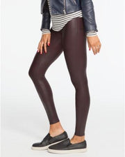 Spanx Spanx- Faux Leather Leggings Wine at Blond Genius - 3