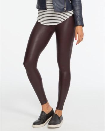 Spanx Spanx- Faux Leather Leggings Wine at Blond Genius - 1
