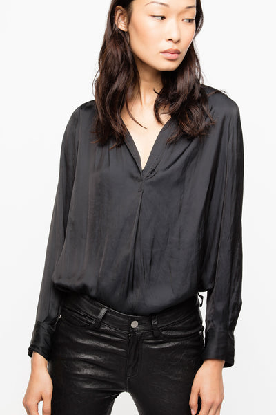 Zadig & Voltaire - Tink Satin Tunic Blouse Noir