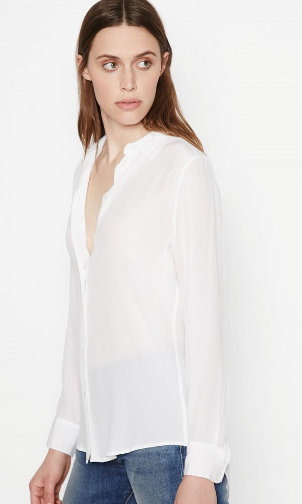 Equipment - Essential Silk Shirt in Bright White