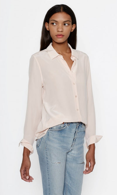 Equipment - Essential Silk Shirt in Cosmetic Pink