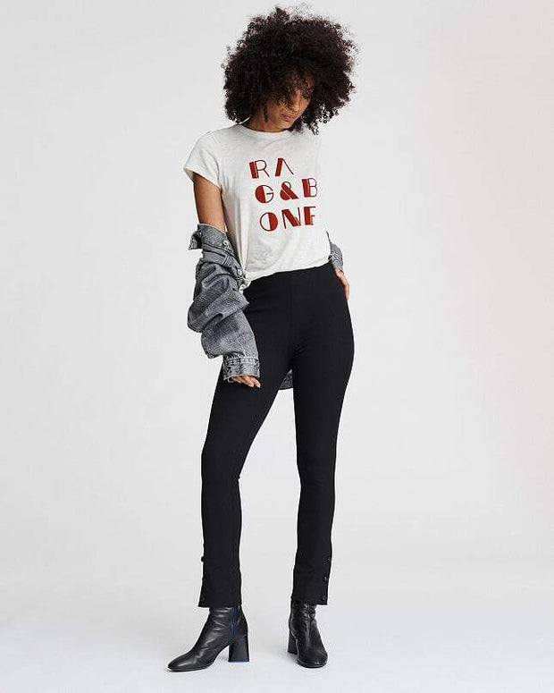 Rag & Bone Collection - Simone Leather Snap Pant in Black