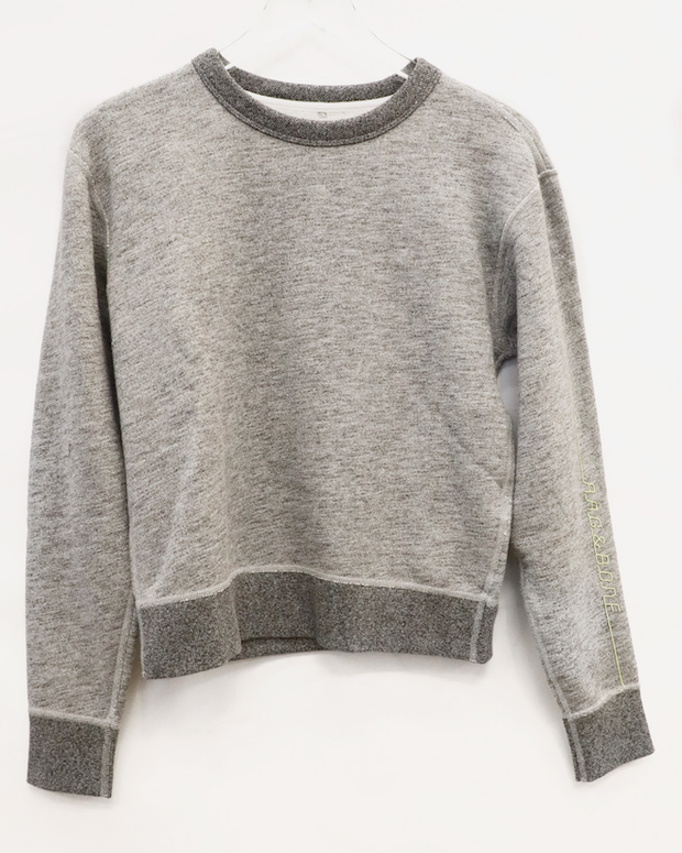 Rag & Bone - Running RB Sweatshirt in Heather Grey