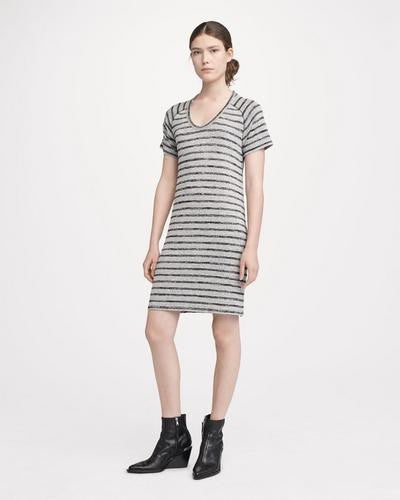 Rag & Bone - Raglan Dress Striped Heather Grey/Black