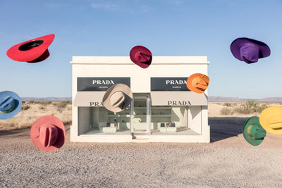 Gray Malin - Rainbow Cowboy Hats Mini, Prada Marfa