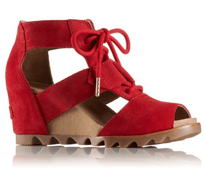 SOREL - Joanie Lace Suede Bright Red