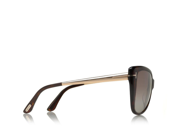 Tom Ford - Reveka Dark Havana/Brown Mirror