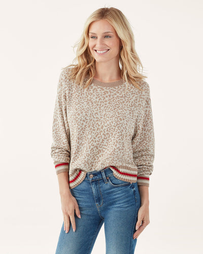 Splendid - Leopard Pullover Sweater in Camel Hot