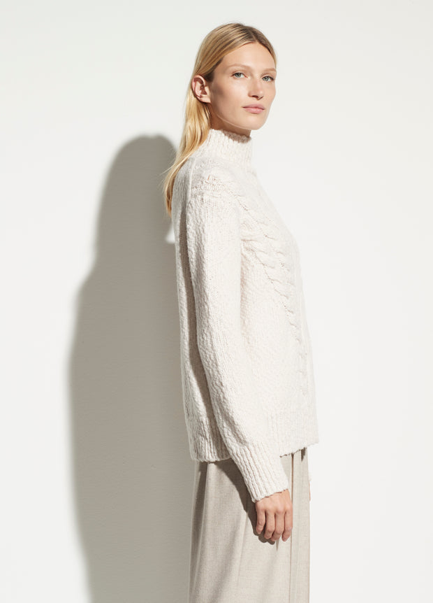 Vince - Rising Cable Turtleneck in Cream