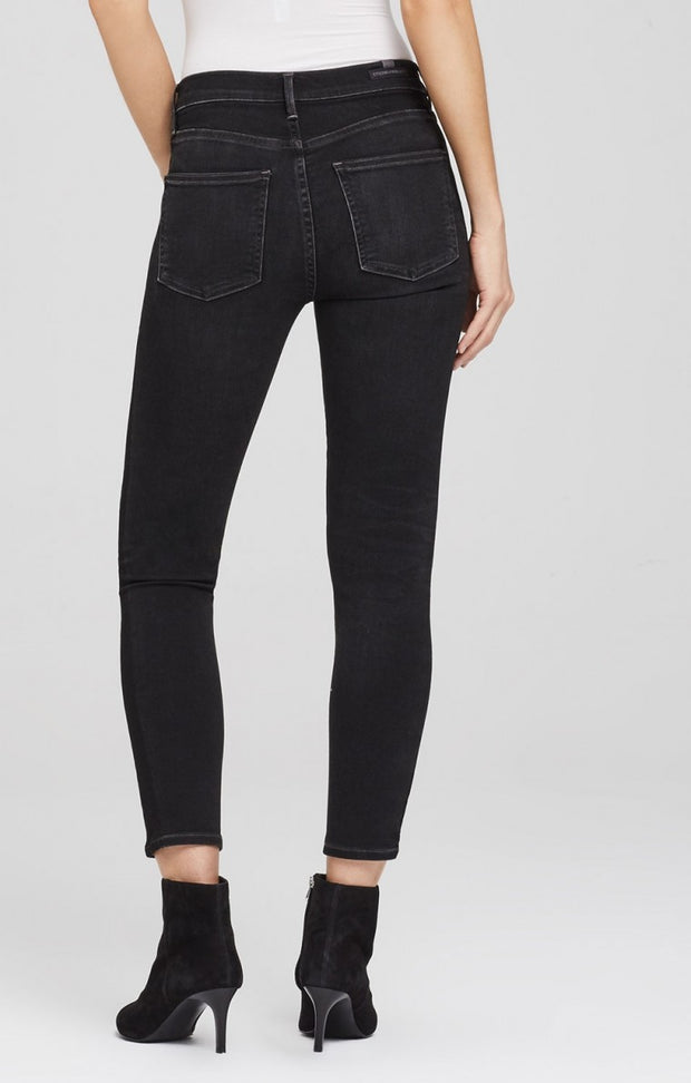 Citizens of Humanity - Rocket Crop High Rise Skinny in Shadow Stripe Darkness