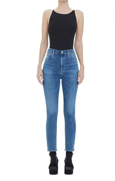 AGOLDE - Ruby Crop Super Hi Rise Slim Straight Adore