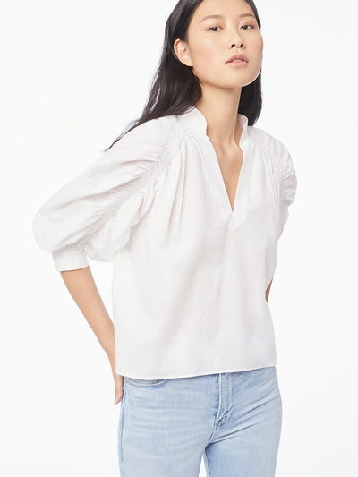 Frame - Ruched Cali Popover in Blanc