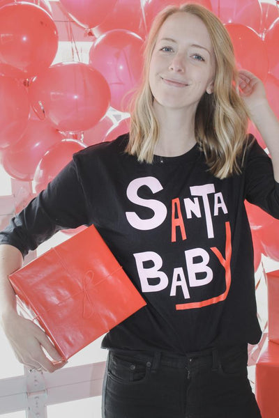 Boat House Apparel - Santa Baby 3/4 Sleeve Tee