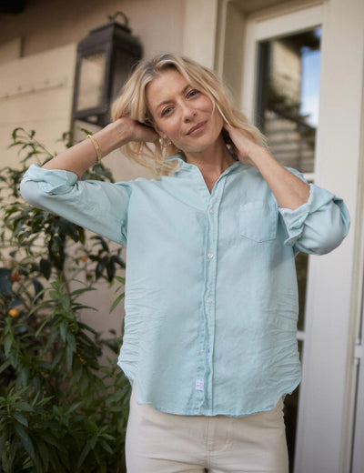 Frank & Eileen - Eileen Button-Down Shirt in Sea Foam Color Denim
