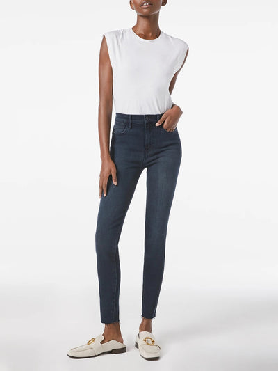 Frame Denim - Le High Skinny Jeans Raw Edge in Seaway