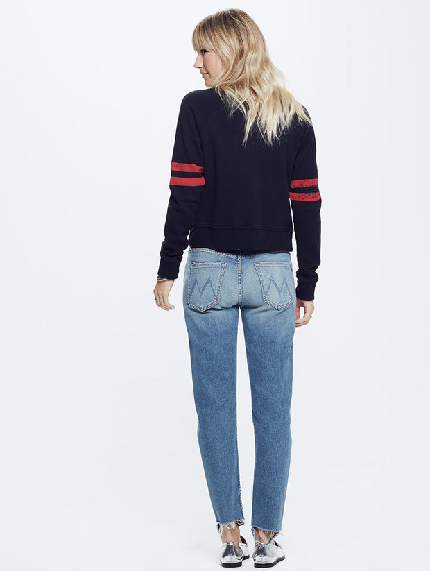 Mother Denim Mother Denim - The Super Square - Navy at Blond Genius - 2