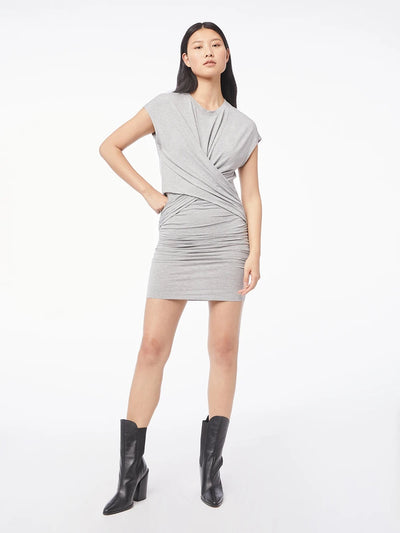 Frame - Shirred Muscle Dress in Gris Heather