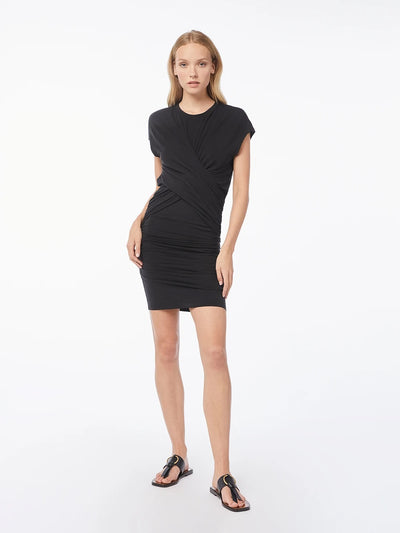 Frame - Shirred Muscle Dress in Noir
