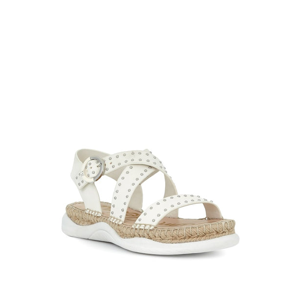 SAM EDELMAN - Janette Sandal in White Leather
