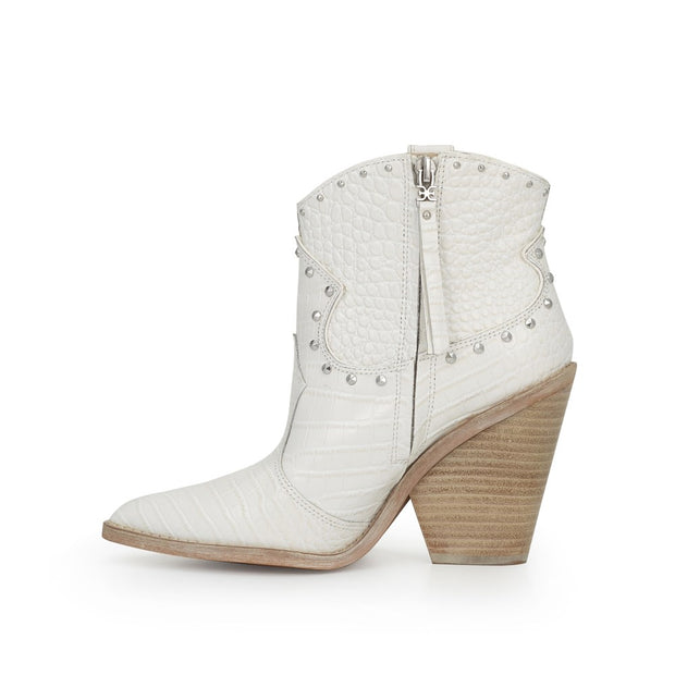 Sam Edelman - Iris Studded Western Boot in Bright White
