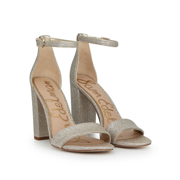 SAM EDELMAN - Yaro Heels in Gold Mesh
