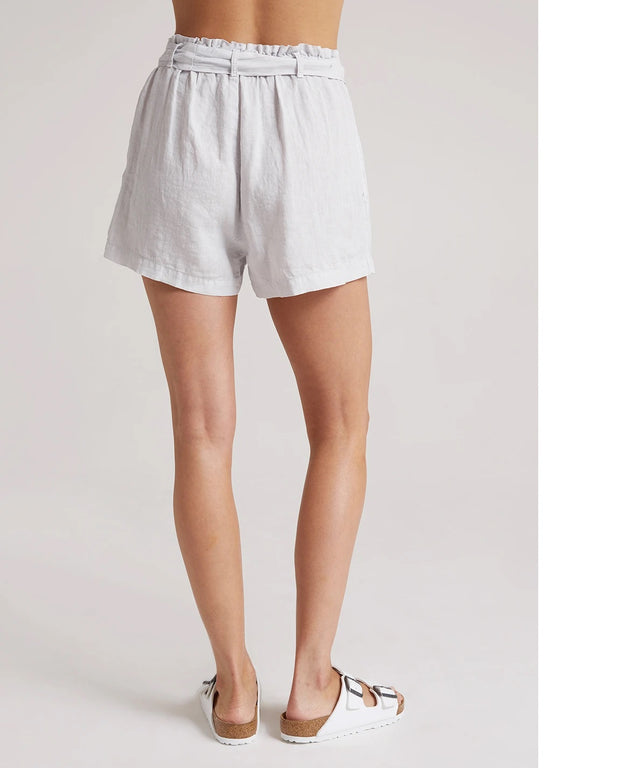 Bella Dahl - Belted Button Front Short in Silverstone
