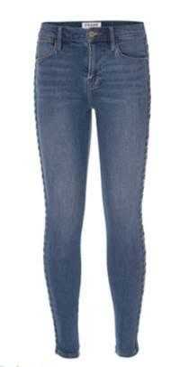 Frame - Le High Skinny Braided Side Seam Jeans in Sandbar