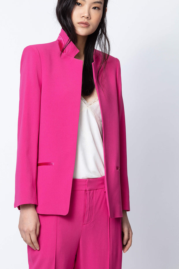 Zadig & Voltaire - Volly Satin Blazer in Raspberry