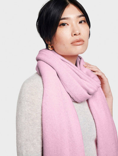 White + Warren - Cashmere Travel Wrap in Rosewater Heather