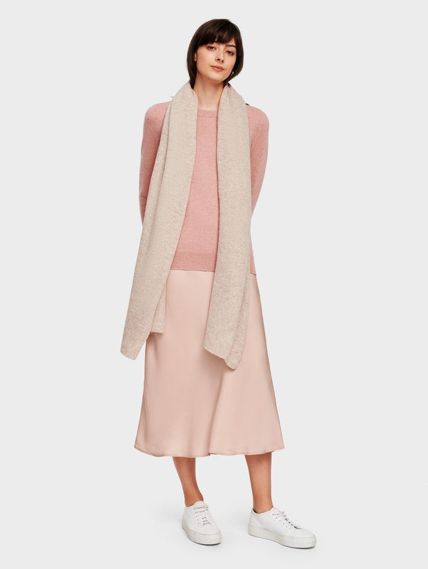White + Warren - Mini Cashmere Travel Wrap in  Sand Wisp Heather