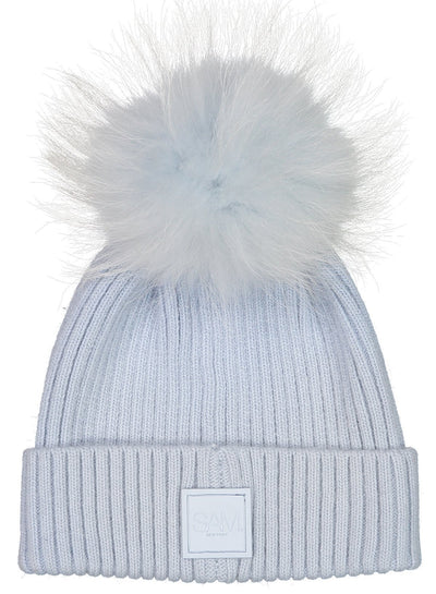 SAM - Fur Beanie in Ice/Ice