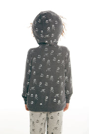 "CHASER KIDS - Boys Cozy Knit L/S Zip Up Hoodie ""Skull Toss"""