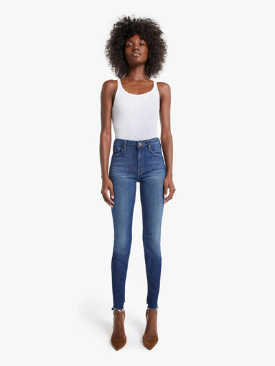 Mother Denim - The Looker Two Step Ankle Fray Skinny Jeans in Skunk at the Tea Party